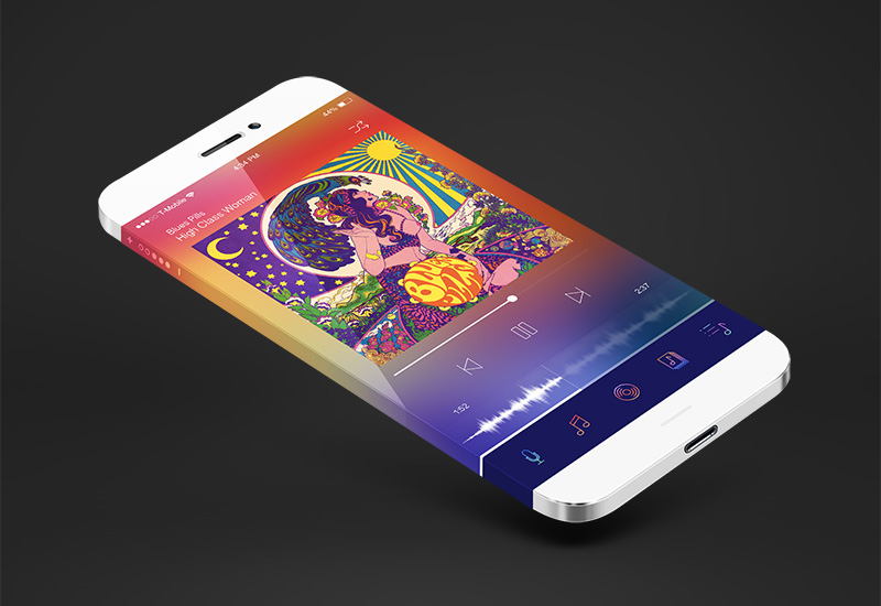 Elegant And Minimalistic Music Player App